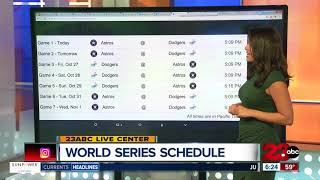 World Series Game Schedule