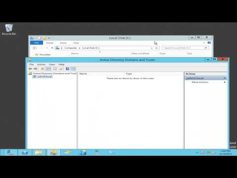 Creating Trust Two  Windows Server 2012 Domain