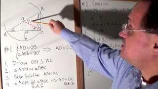 V15. Right Triangle & Circumscribed Circle. Chord & Radius