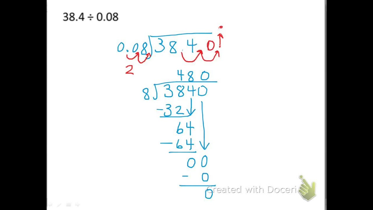 Dividing Decimals with Decimal Divisors