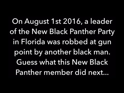 New Black Panther Party leader ROBBED at gun point by another black man-Just watch what he did next!