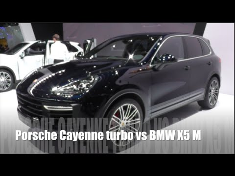 porsche cayenne turbo 2015 vs bmw x5 m 2015 youtube. Black Bedroom Furniture Sets. Home Design Ideas