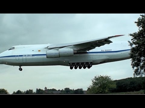 Antonov landing at