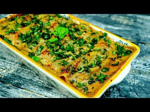 Рецепт КАННЕЛЛОНИ с тофу и шпинатом под соусом БЕШАМЕЛЬ