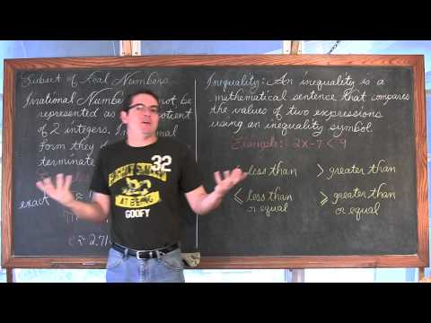 Classification of Real Numbers, Inequalities, and Number Line