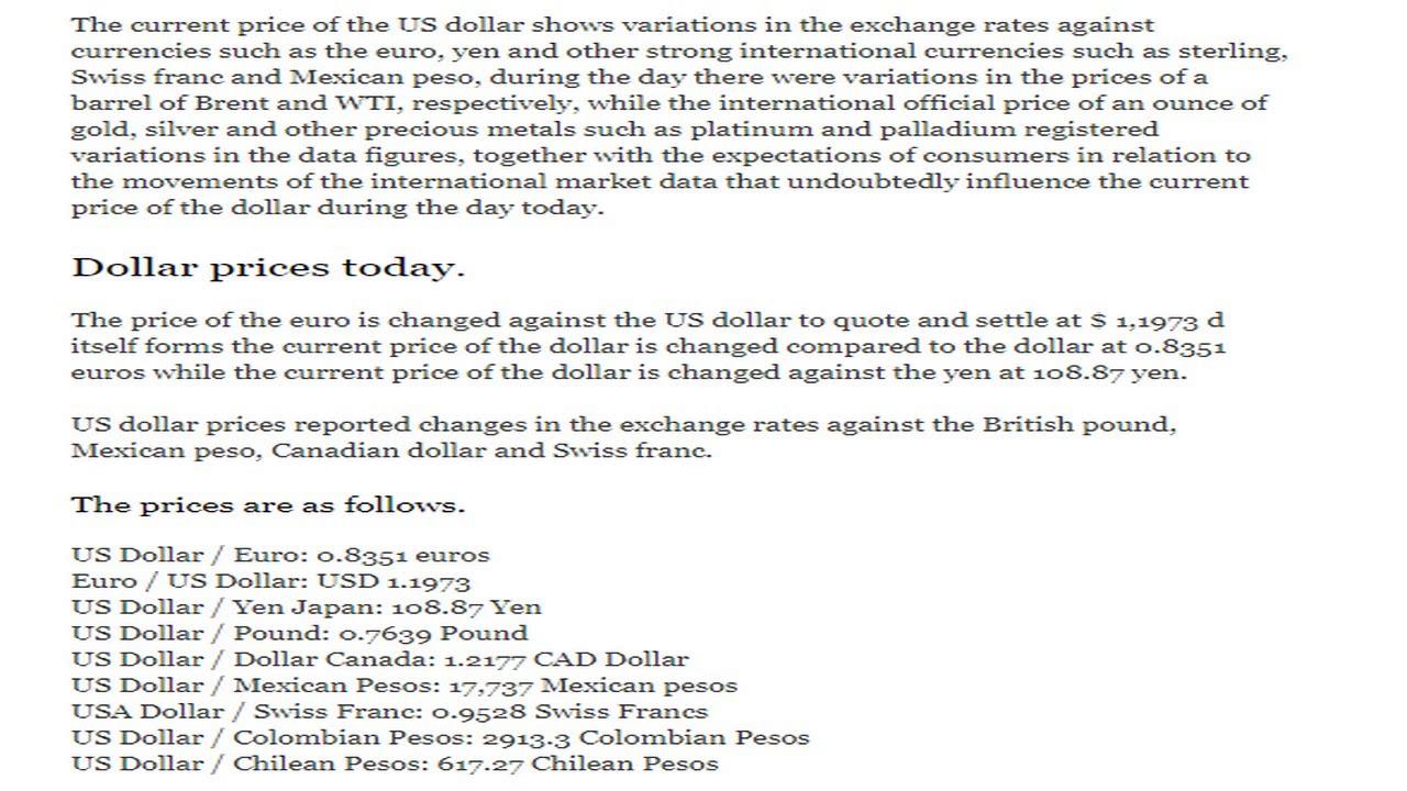 Cur Exchange Price Rates Dollar Euro Yen Today Thursday September 7 2017 09 07 17