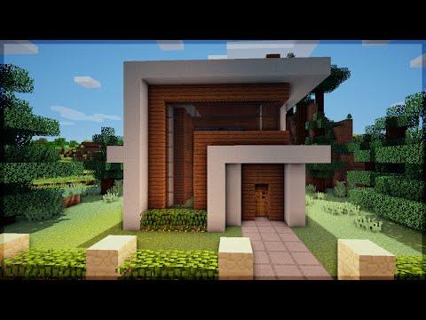 Minecraft construindo uma pequena casa moderna 5 doovi for Casa moderna survival minecraft