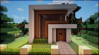 minecraft casa moderna pequena uma construindo