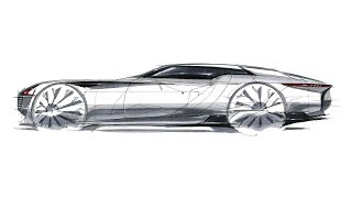 How to sketch car side view