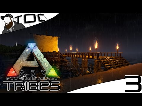 ARK SURVIVAL EVOLVED | BOAT DOCK DESIGN! | Episode 3 (Gameplay Pooping Evolved Server)
