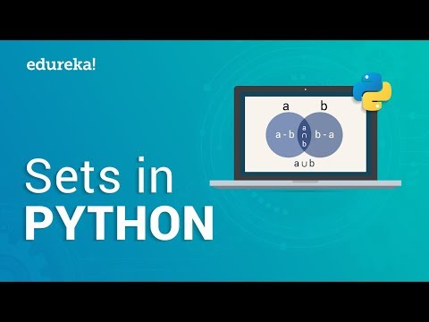Sets In python | Python Sets Tutorial | Python Tutorial for Beginners | Edureka thumbnail