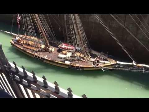 Tall Ships  DRAKEN HARALD HARFAGRE & PRIDE OF BALTIMORE II at Lock 3, Welland Canal
