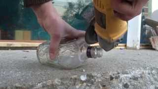 Make a Flower Vase out of a Liquor Bottle