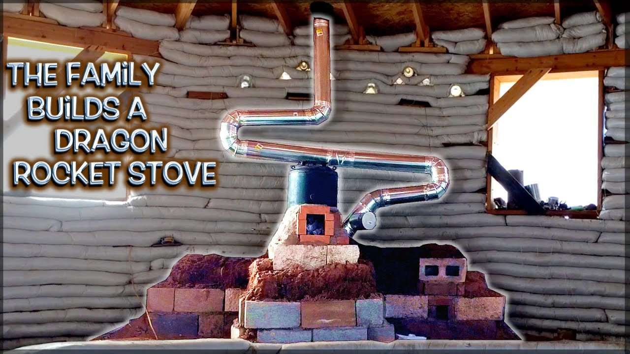 The Family Builds A Dragon Rocket Stove Mass Heater Full