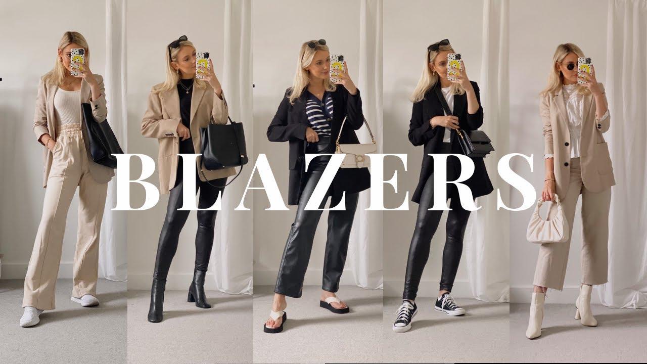 HOW TO STYLE BLAZERS FOR AUTUMN/FALL! 5 BLAZER OUTFIT IDEAS | Zara, Mango, H&M & more