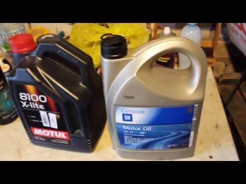 Проверка масла GM Dexos2 5W-30 на замерзание