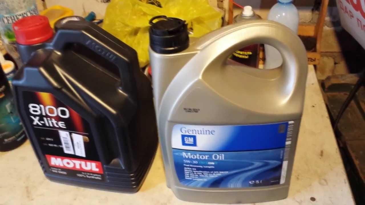 Моторное масло GM Semi Synthetic 10W-40 5л. Обзор - YouTube