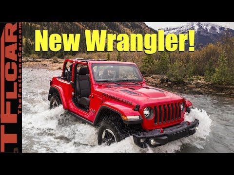 Live! 2018 Jeep Wrangler JL Debuts With 3 Engines and Plugin Hybrid