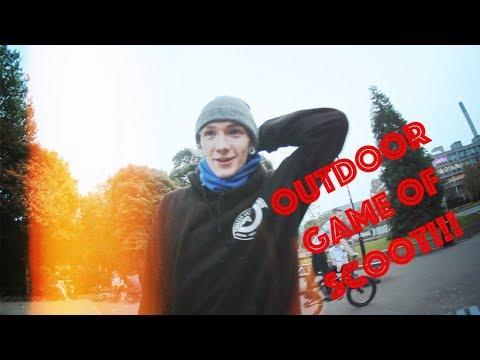 James Potts Vs. Jordan Heslop | Game of scoot at Exhibition Skatepark