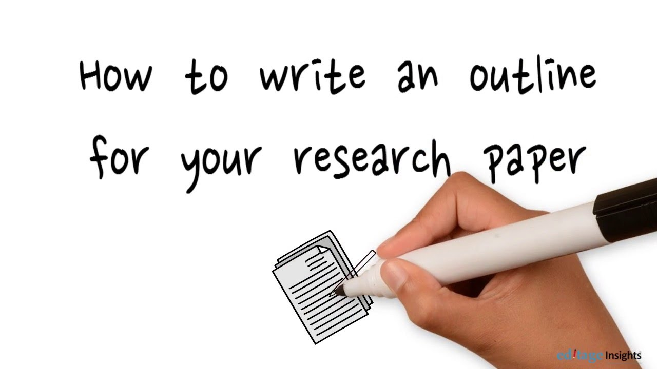 How to create an outline for your research paper - YouTube