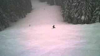 Jasmine & Lily Skiing at Titan (Black Diamond) at Mt. Hood Meadows