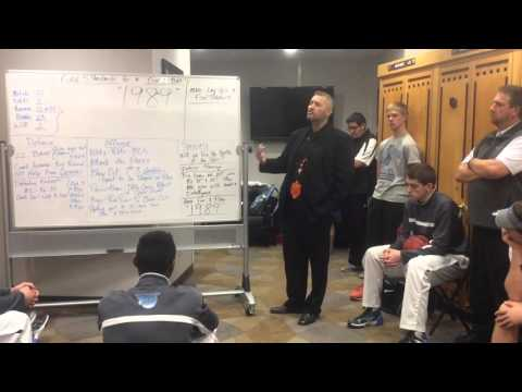 Pueblo West boys basketball's pregame speech before 4A title game