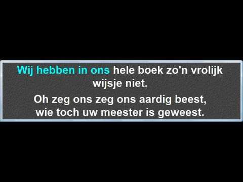 Klein Vogelijn, instrumentaal met karaoke tekst