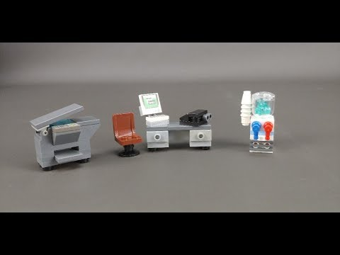Lego How To Build Office Furniture Youtube