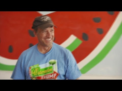 Mike Rowe spits watermelon seed HOW far?