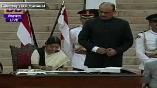 Smt Sushma Swaraj sworn-in as Cabinet Minister in new Government