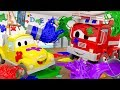 The Paint Battle Baby Cars in Car City Cartoon for kids