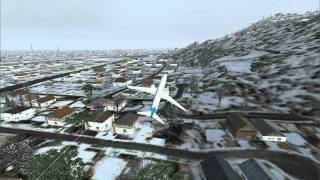 Microsoft Flight Simulator X - FSX Just me flying in Salt Lake City, UT on my way to MT. :)
