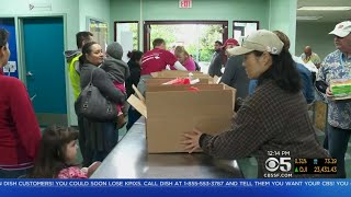 San Jose Charity Hands Out Thanksgiving Meal Boxes