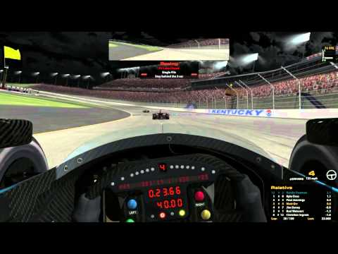 iRacing : Lifting. In an Indycar. On a 1.5 Mile Oval. Woah. (Indycar @ Kentucky)