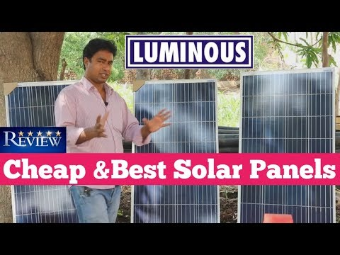 Cheap & Best Solar Panel for Home & Business – Luminous Solar Panel Review & Unboxing