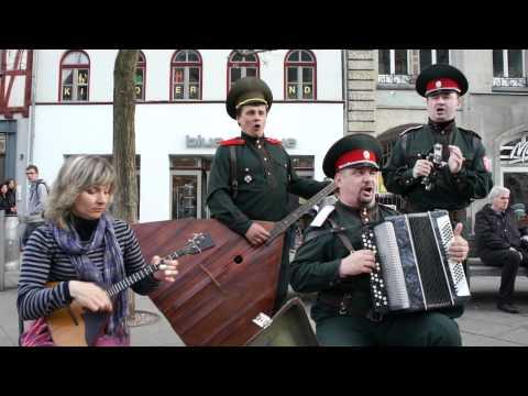 Straßenmusik der Extraklasse - Kalinka - Ensemble mit russische Seele - 1/2 - Erfurt 2011