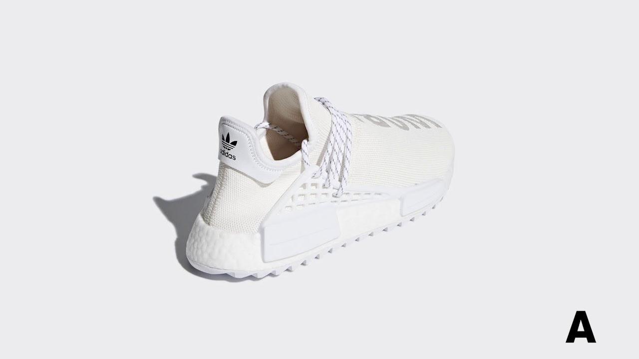 online store 017de 71271 Pharrell x Adidas NMD Hu Blank Canvas Holi 2018 | AStore
