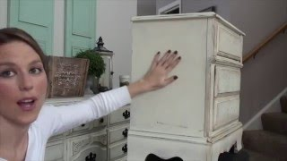 Pretty Distressed™ Annie Sloan Chalk Paint® Dark Wax Tutorial - Heavy Distressing (Part 3)