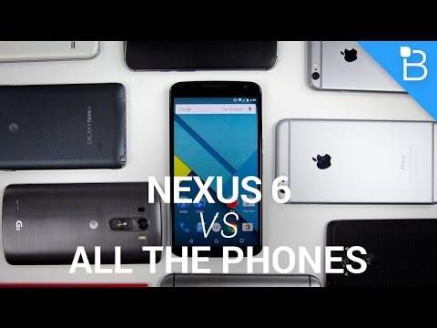 Google Nexus 6 vs All the Phones!