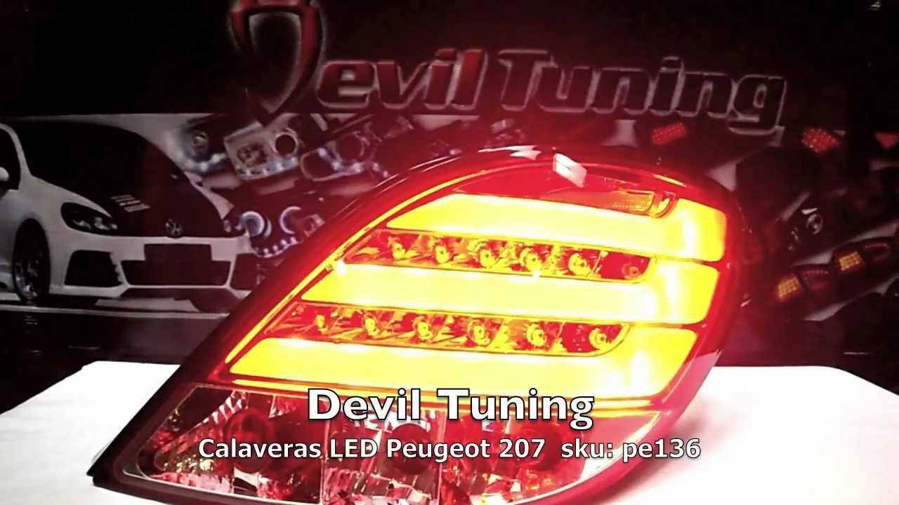 Pe136 Calaveras Led Peugeot 207 Devil Tuning Youtube