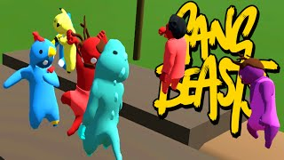 SO MANY PEOPLE!! WHIP NAE NAE DANCE MOVE!! (Gang Beasts Online Multiplayer)