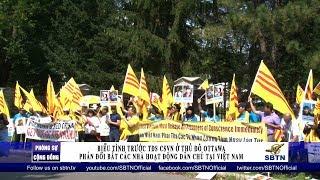PHÓNG SỰ CỘNG ĐỒNG: Biểu tình phản đối bắt các nhà hoạt động dân chủ tại VN ở Canada