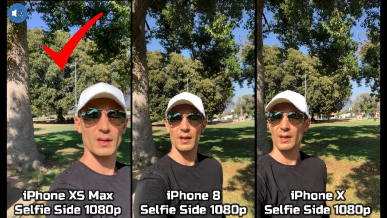 e866aa5aff6842 iPhone XS Max vs iPhone X vs iPhone 8  Video Camera   Mic Comparison Review