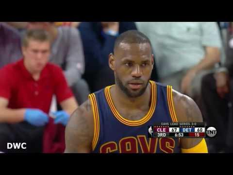 Andre Drummond  Defense On LeBron James April 24, 2016 Playoffs , R1 G4