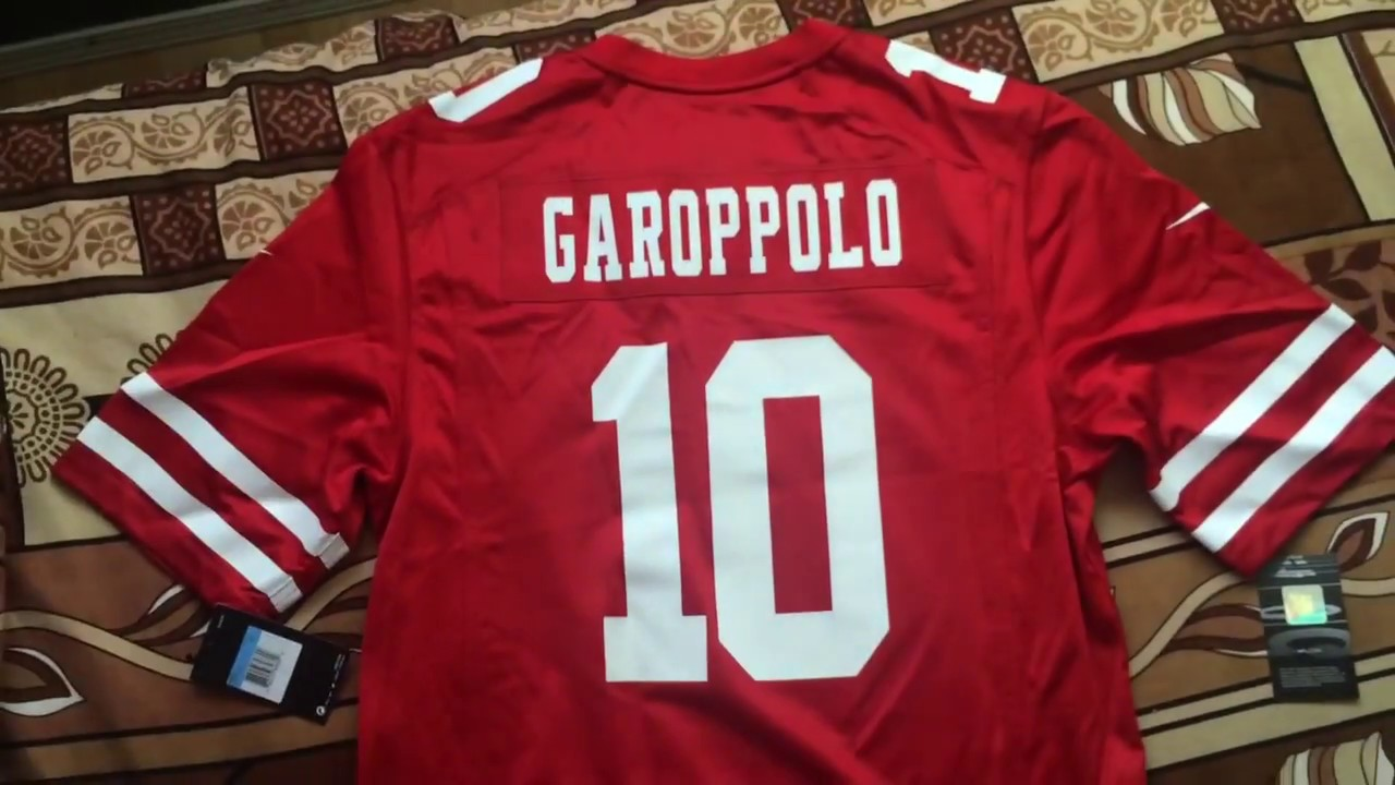 lowest price 7e30e 5f56d Jimmy Garoppolo 49ers NFL Jersey Unboxing!