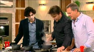 James Martin cooks Black pudding for Stephen Mangan 5th May 2012