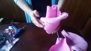 как сделать из бумаги розу бесплатно