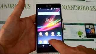 Capturar la pantalla (screenshot) del Sony Xperia Z