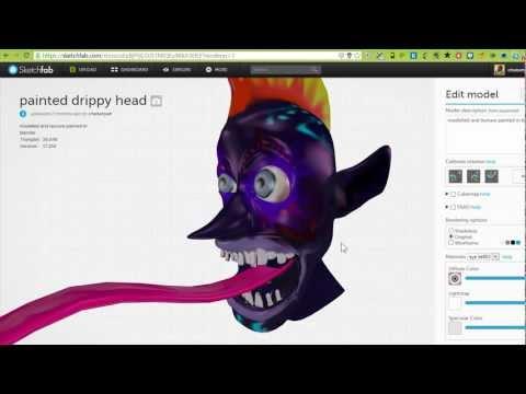 sketchfab material editor walkthrough