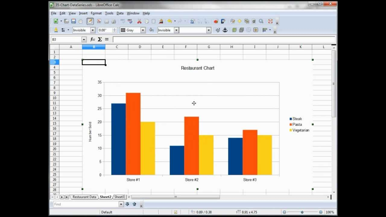 35- libre office - calc  open office -- calc  excel tutorial -- charts data series
